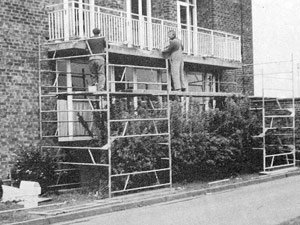 Concrete repair being undertaken in 1981