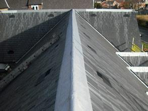 Roof ridge encapsulated using Belzona 3111 (Flexible Membrane)