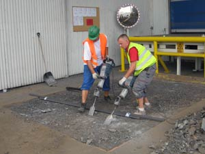 Surface preparation following severe wear of the loading bay