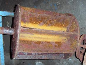 Severely corroded rotor of the vacuum pump