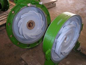 Pumps rebuilt and coated with Belzona 1341