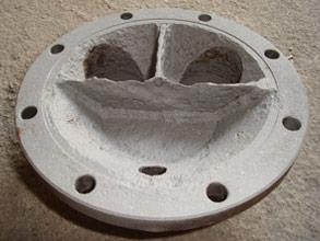 End cover of the heat exchanger after blasting