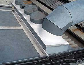 Fully reinforced joint with 3111 (Flexible Membrane) providing roof protection from leaks