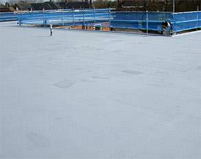 Roof area protected using Belzona 3111 (Flexible Membrane) in winter