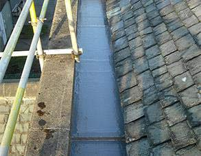 Completed gutter repair using Belzona 3111 (Flexible Membrane)