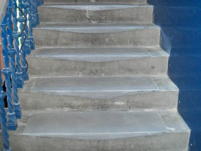 Belzona 4131 (Magma-Screed) used to rebuild worn areas