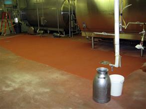 Floor repaired with Belzona 4181 (AHR Magma-Quartz)