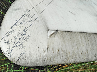 Damaged Wind Turbine Blade