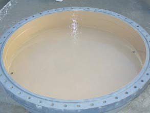 Heat exchanger's end cover coated for long-term corrosion protection using Belzona 5811 (Immersion Grade)